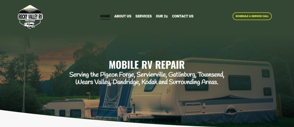 Rocky Valley RV Website