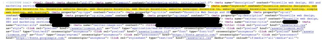 Keyword Stuffing By A Knoxville Web Designer